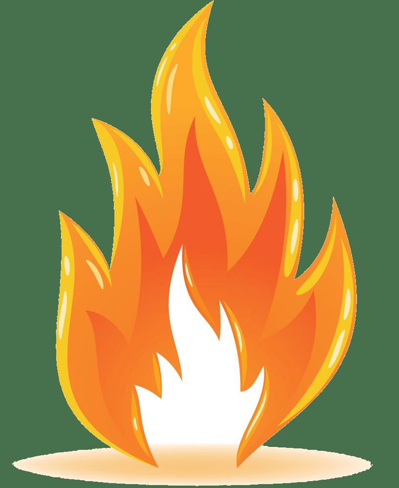 Fire clipart transparent 4