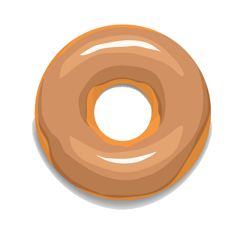 Glaze donut clipart transparent