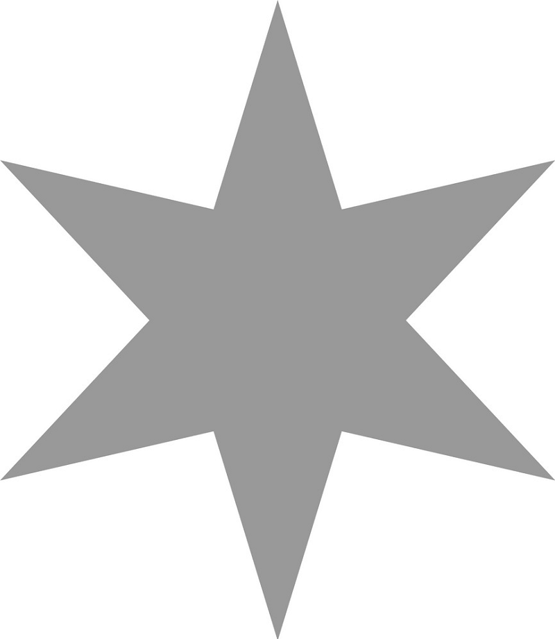 Gray six-pointed star png
