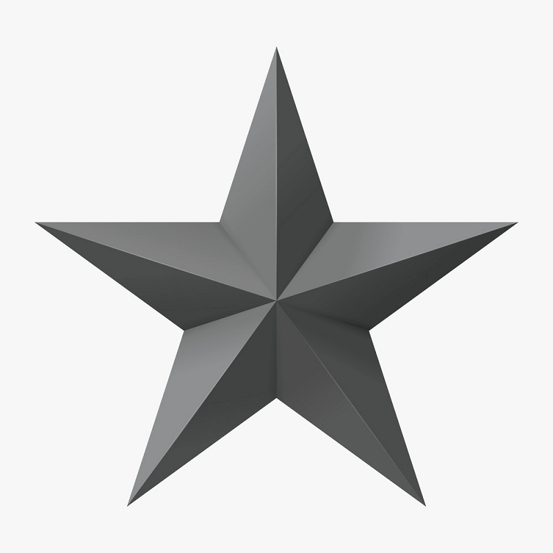 Gray star png