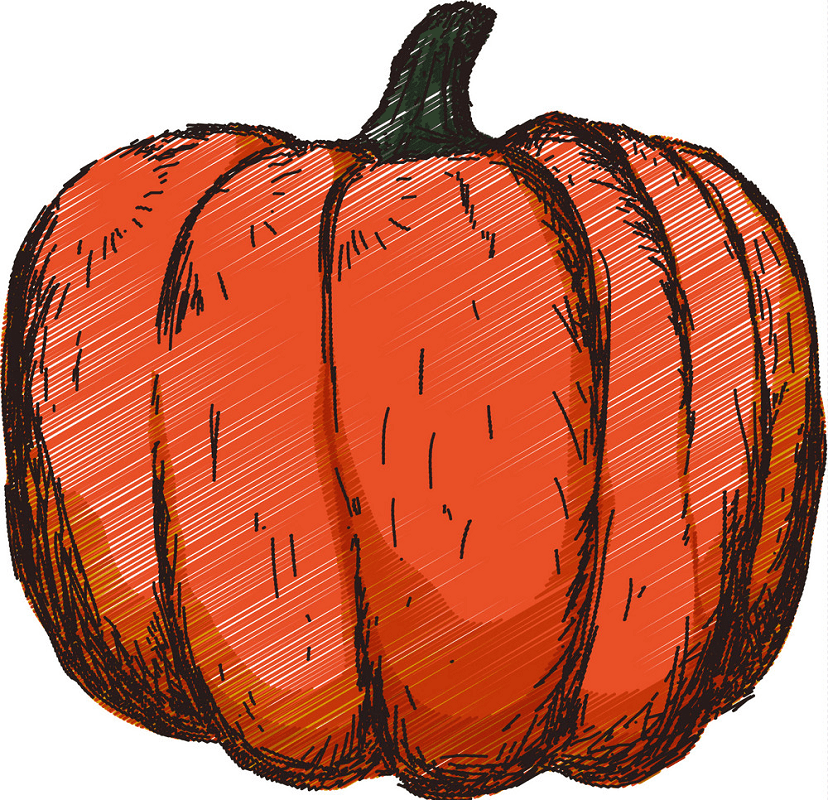 Hand drawn pumpkin png