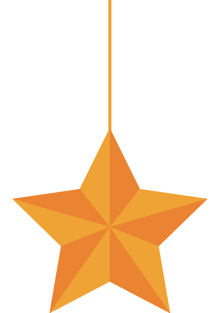 Hanging star clipart transparent 1