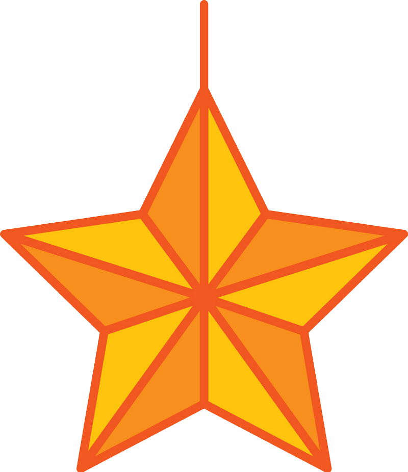 Hanging star clipart transparent 2