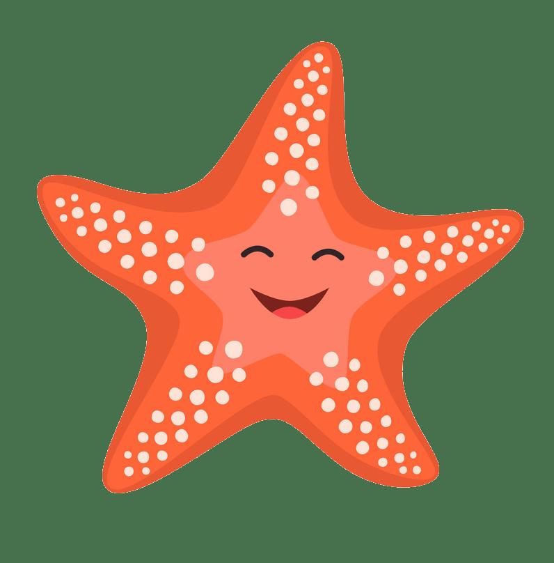 Happy starfish clipart transparent