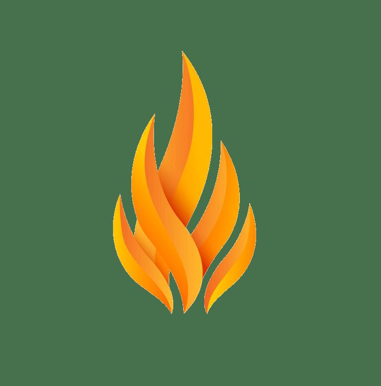 Logo fire clipart transparent