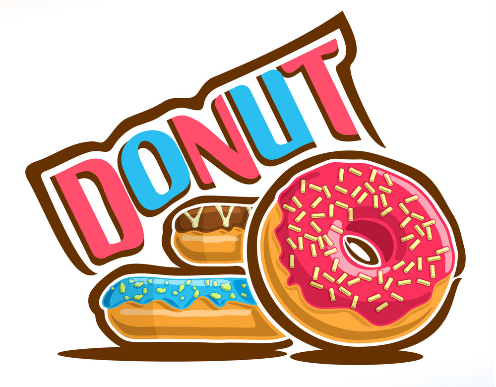 Logo for donut clipart