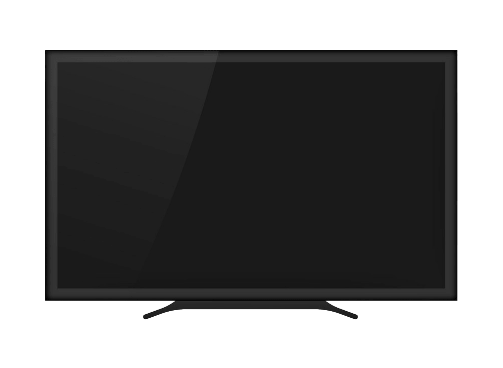 Modern TV clipart transparent