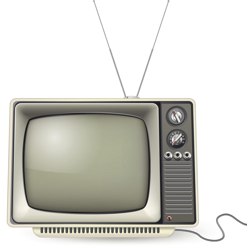 Old TV clipart 1