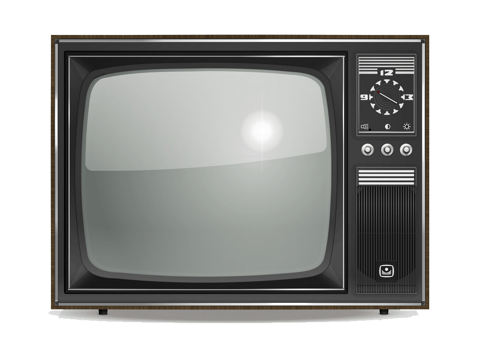 Old TV clipart transparent