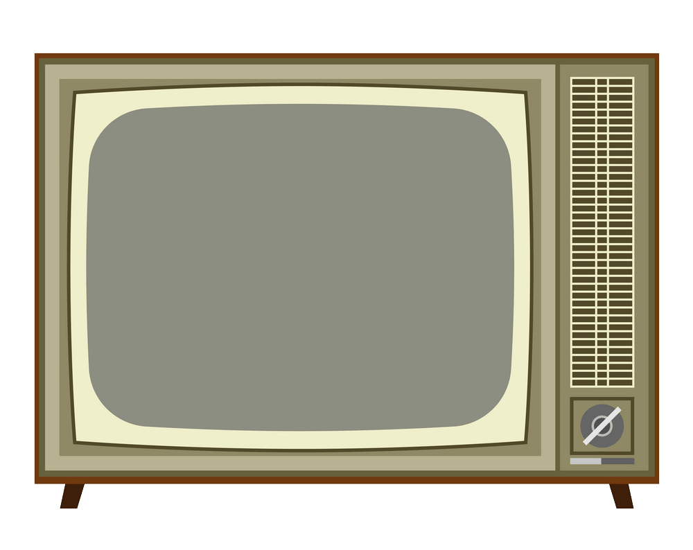 Old analog TV clipart transparent