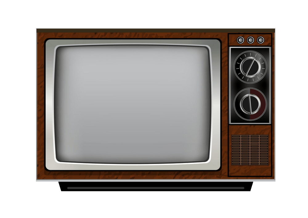 Old retro TV clipart transparent