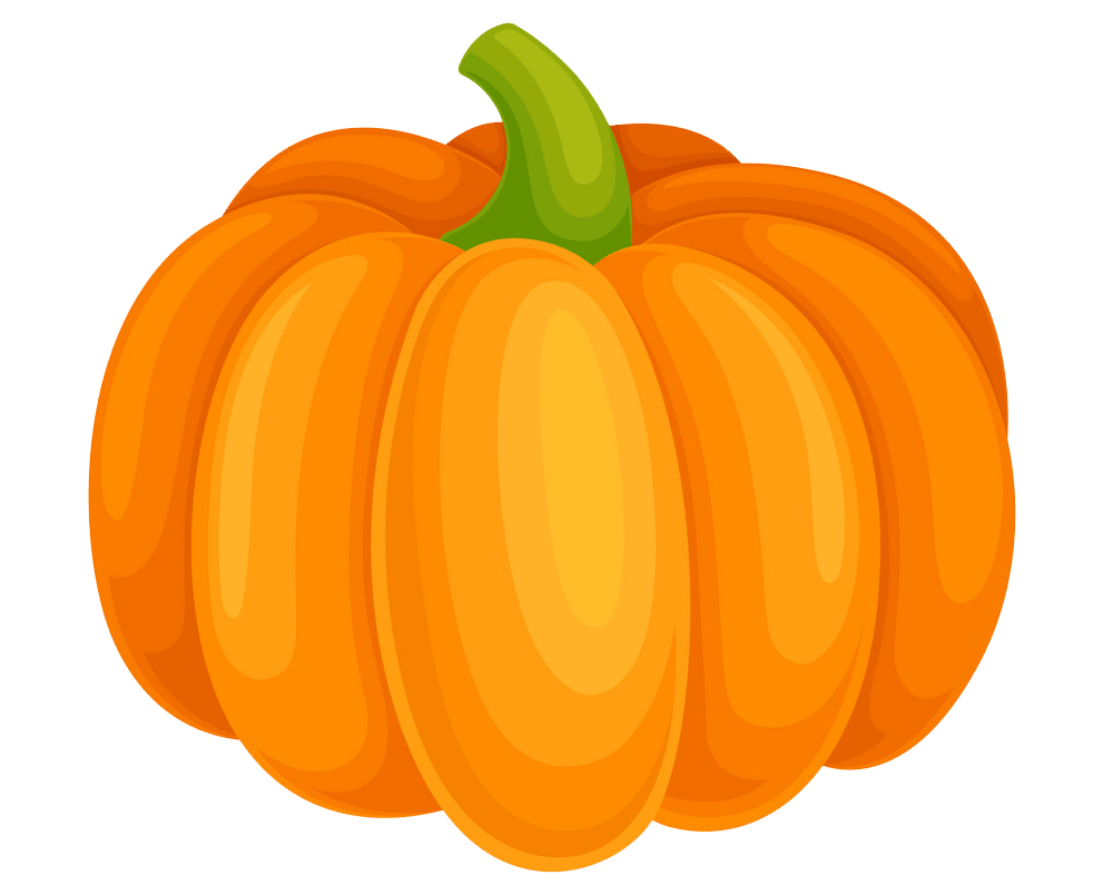 Orange pumpkin clipart transparent