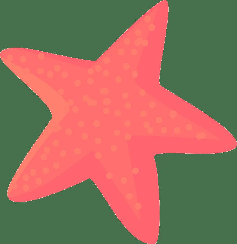 Pink starfish clipart transparent 1