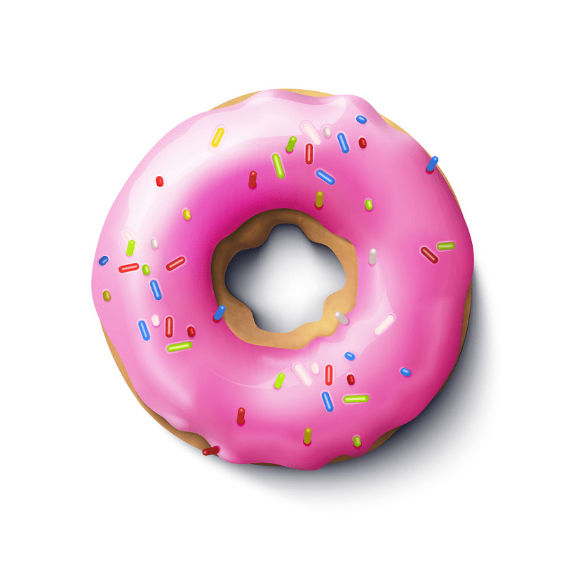 Realistic donut clipart