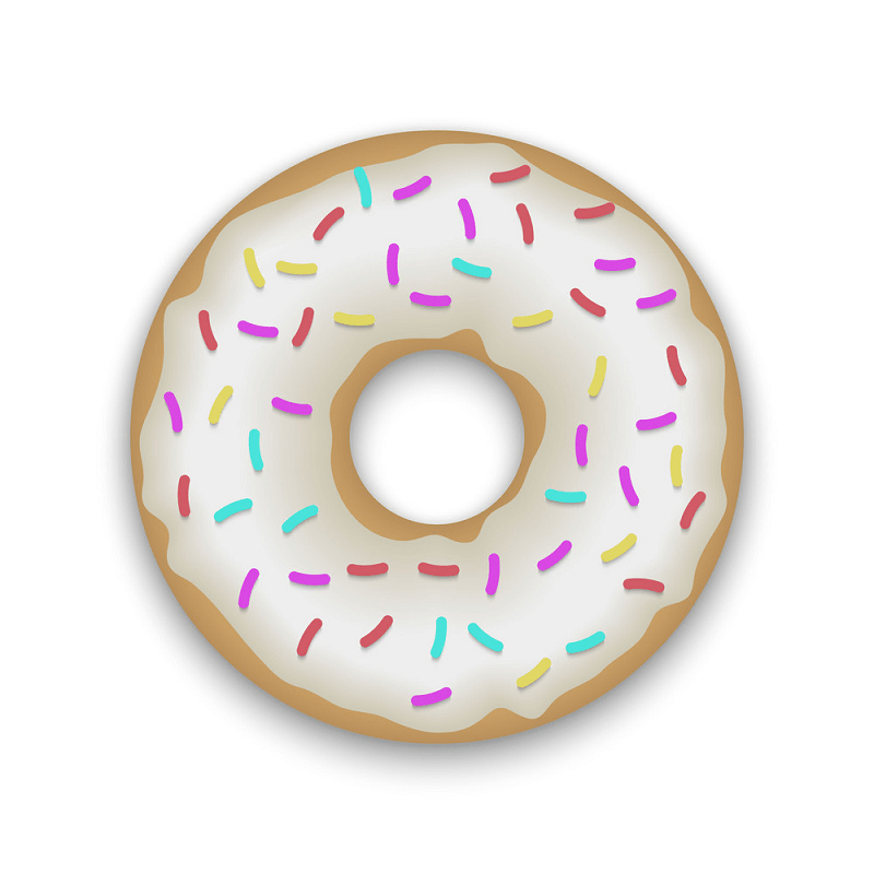 Realistic donut png