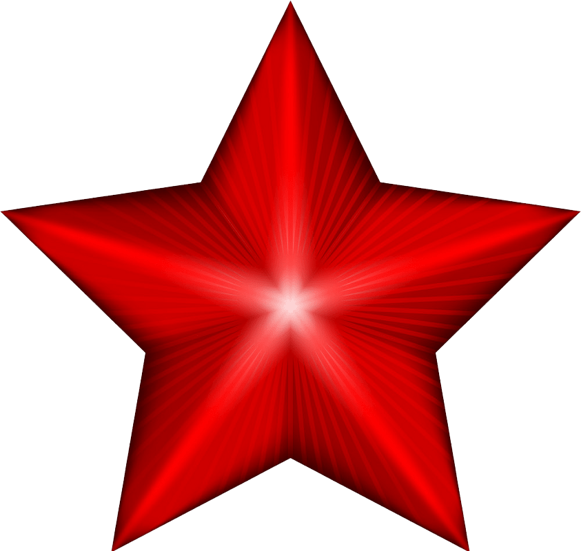Red star clipart transparent