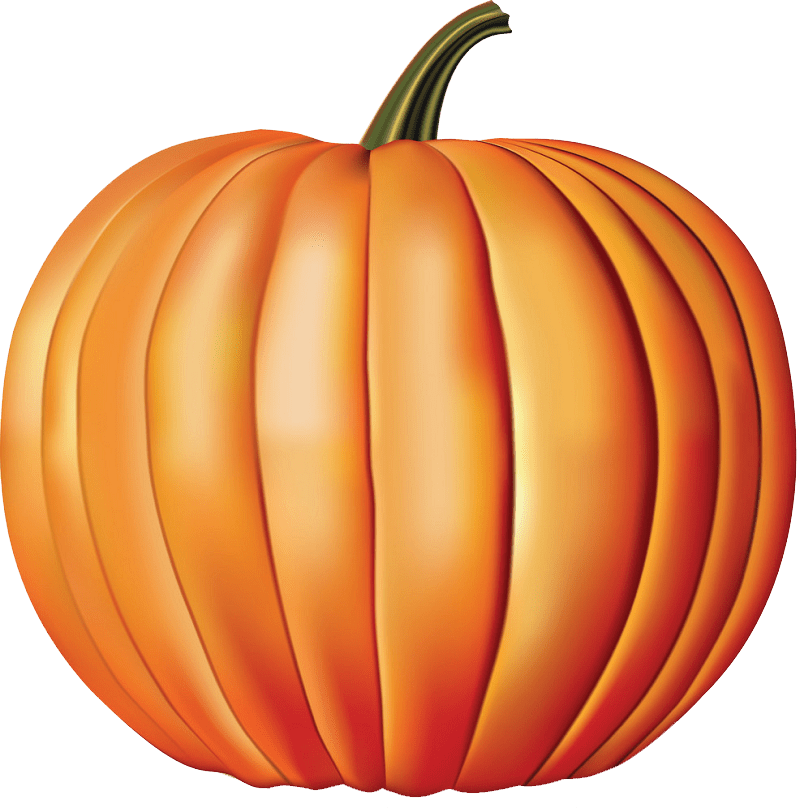 Ripe pumpkin clipart transparent