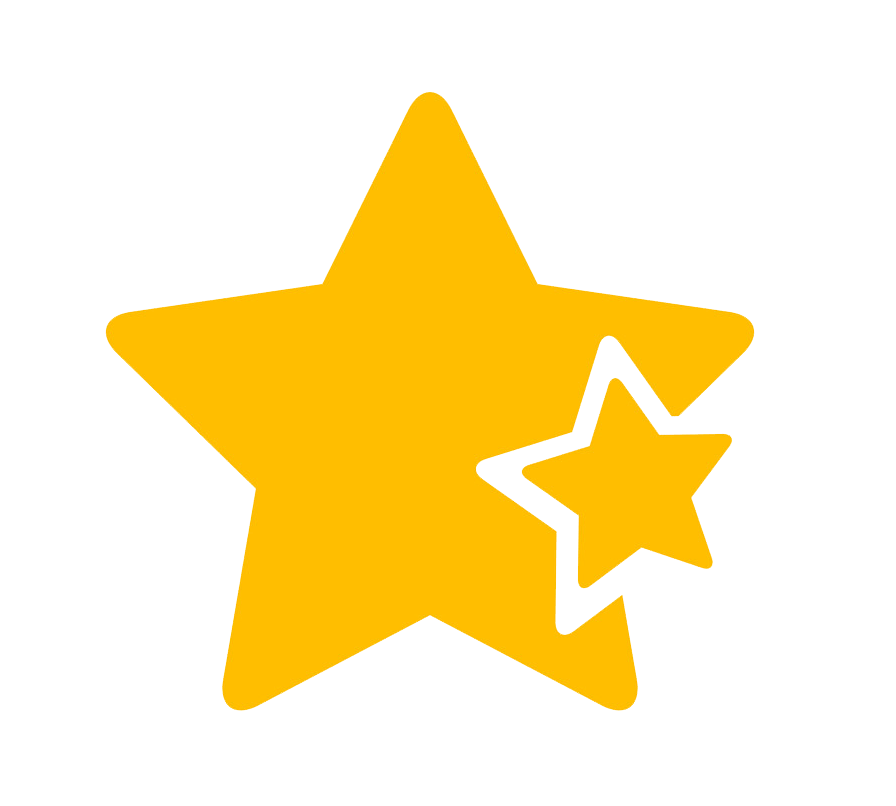 Star icon clipart transparent