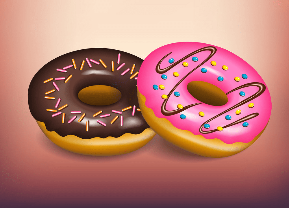 Two donuts png