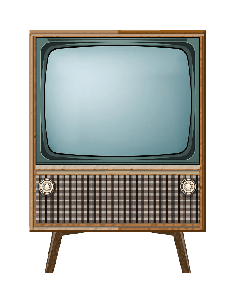 Vintage TV clipart transparent