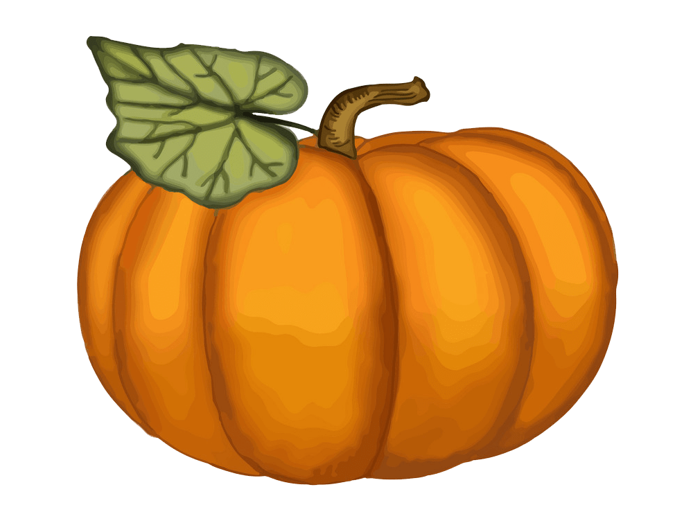 Watercolor Pumpkin clipart transparent