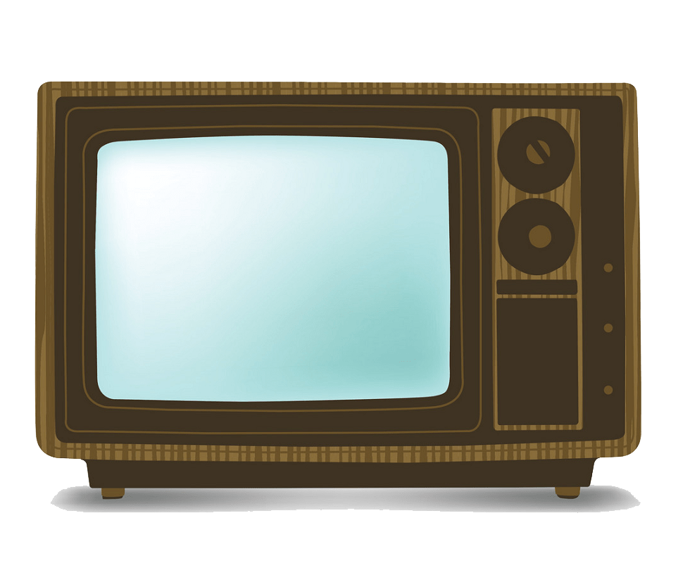 Wooden TV clipart transparent