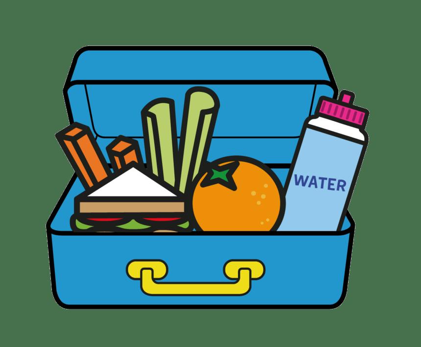 blue lunchbox transparent