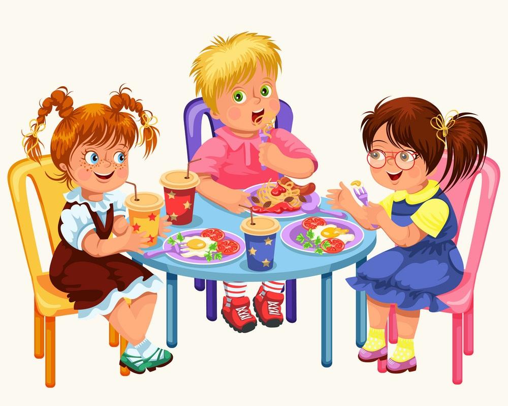 classmates having lunch