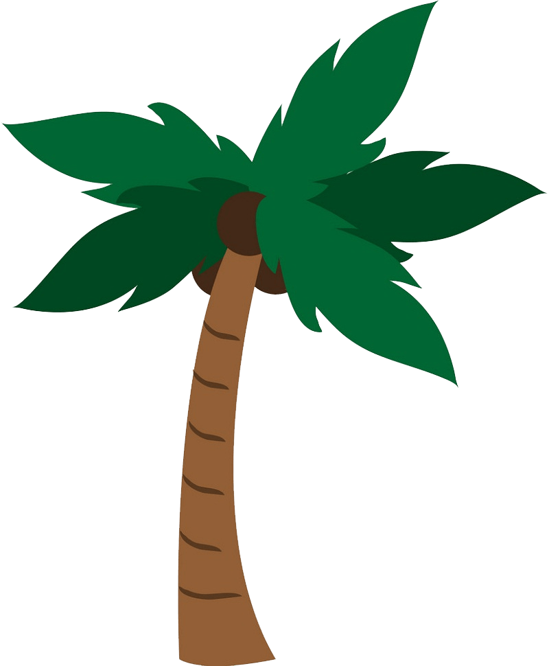 coconut palm tree clipart transparent 1