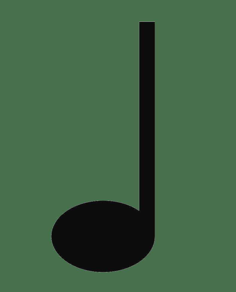 quarter music note clipart transparent