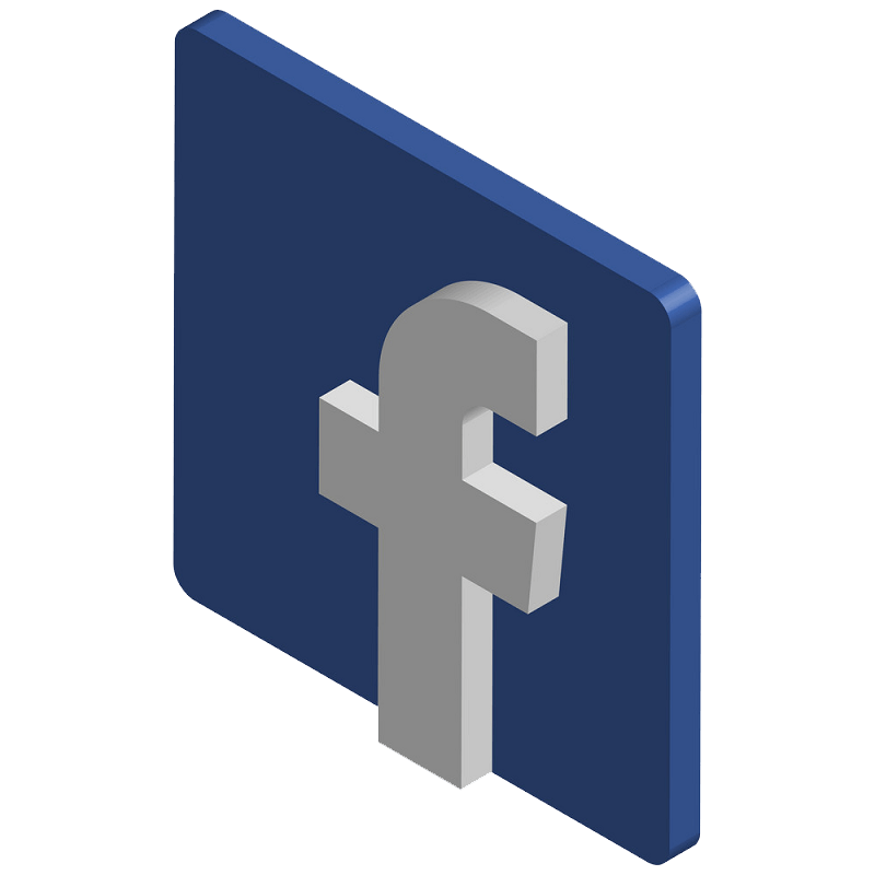 3D Icon Facebook clipart transparent