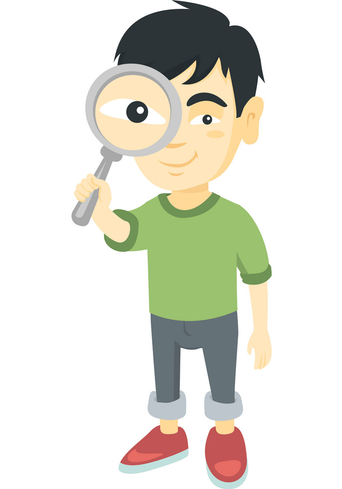A Guy with Magnifying Glass png