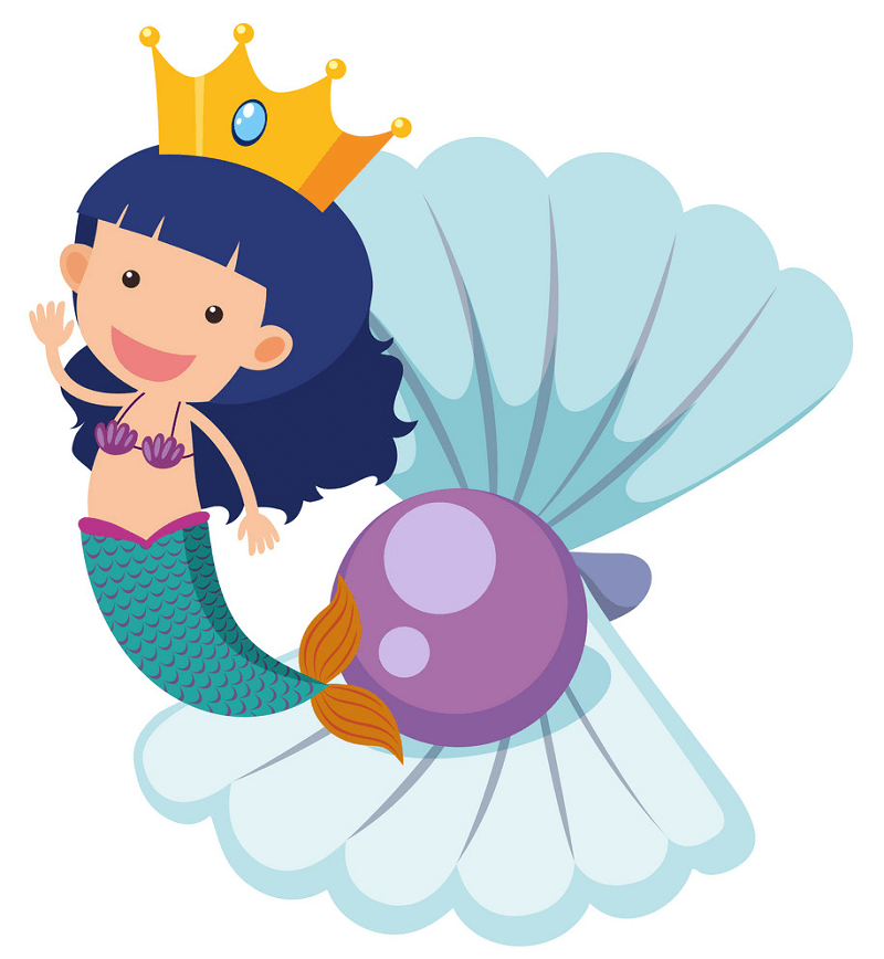 Adorable Mermaid clipart