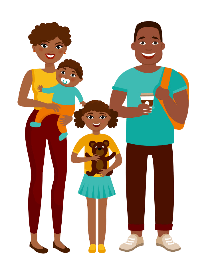 African Family clipart transparent