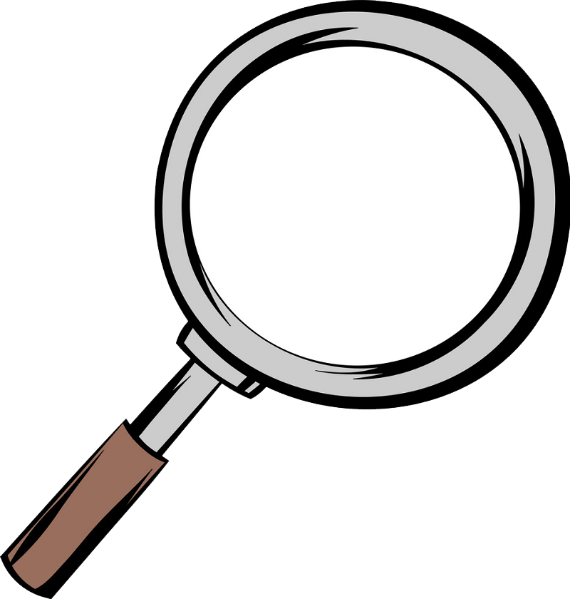 Animated Magnifying Glass clipart transparent