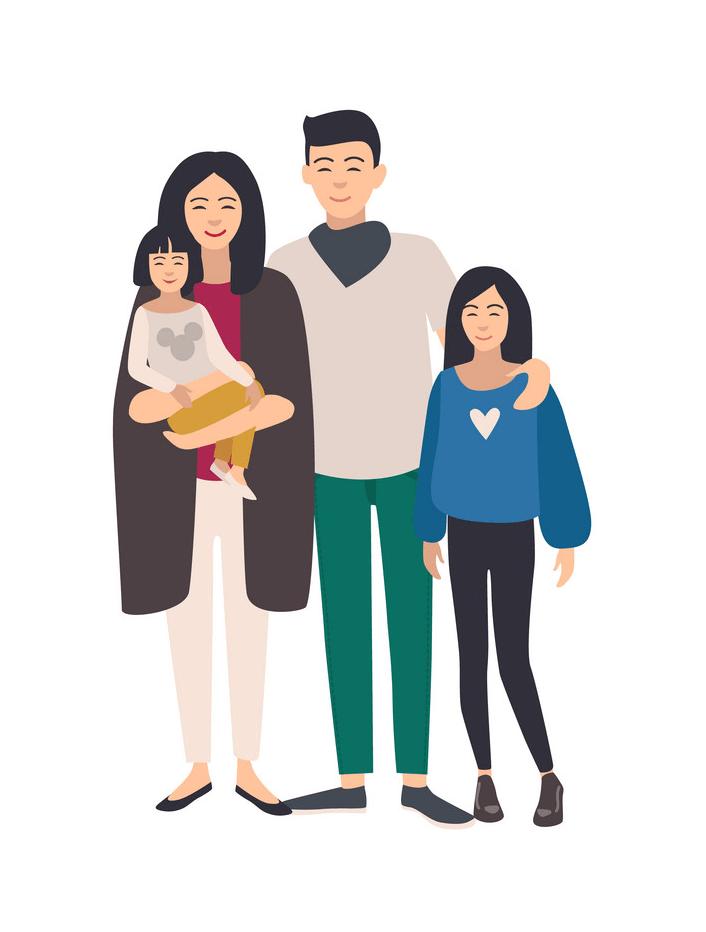 Asian Family clipart
