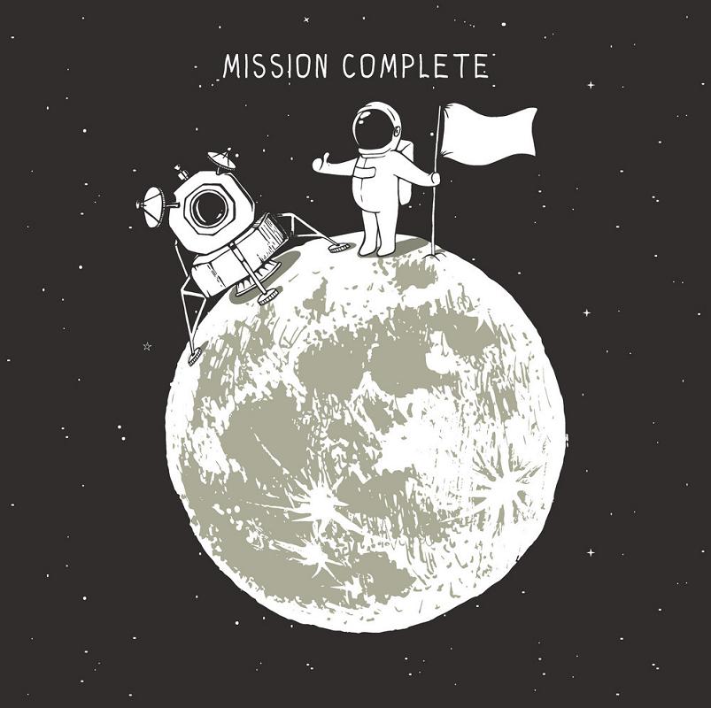 Astronaut on Moon clipart
