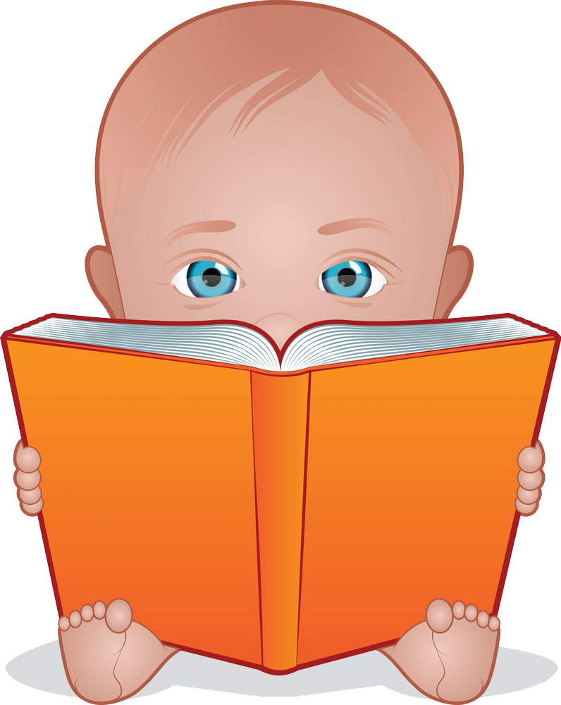 Baby Reading clipart transparent