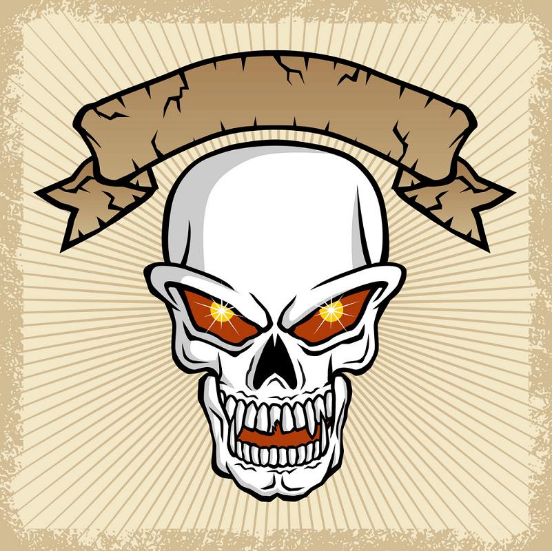 Banner Skull clipart
