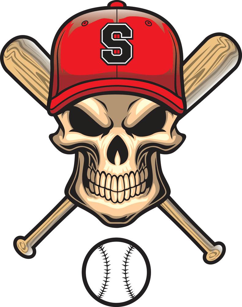 Baseball Skull png