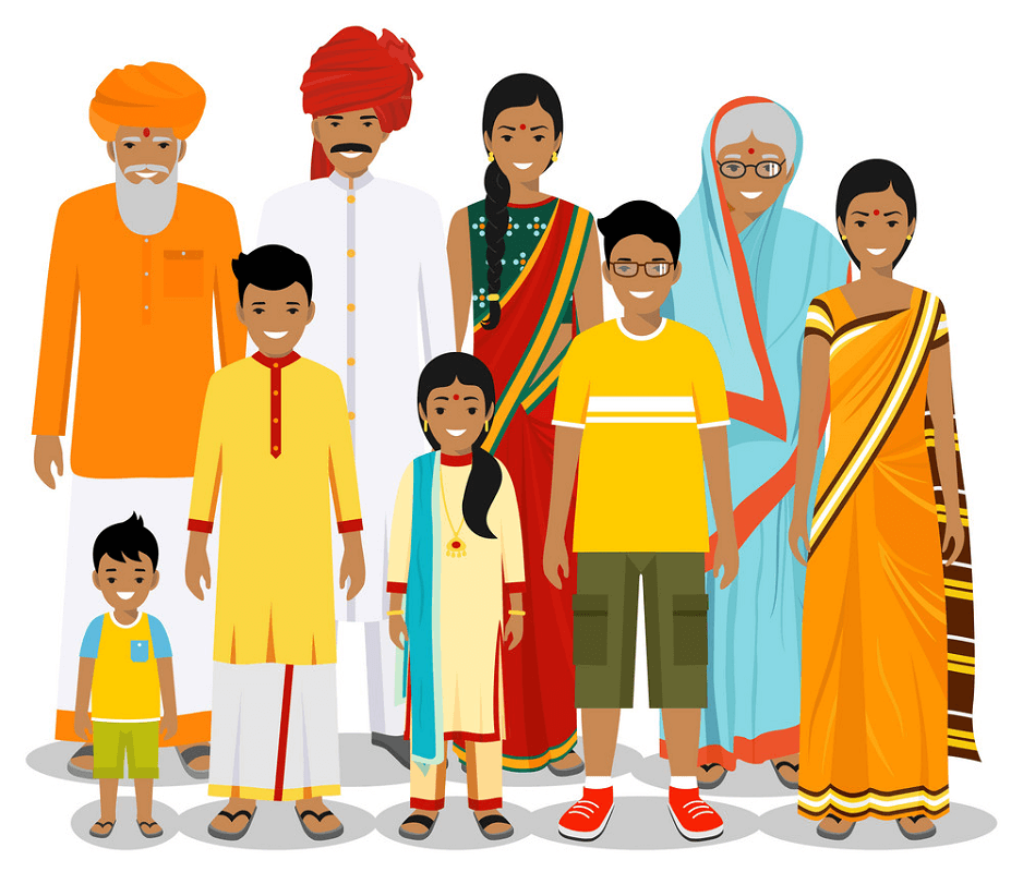 Big Indian Family png