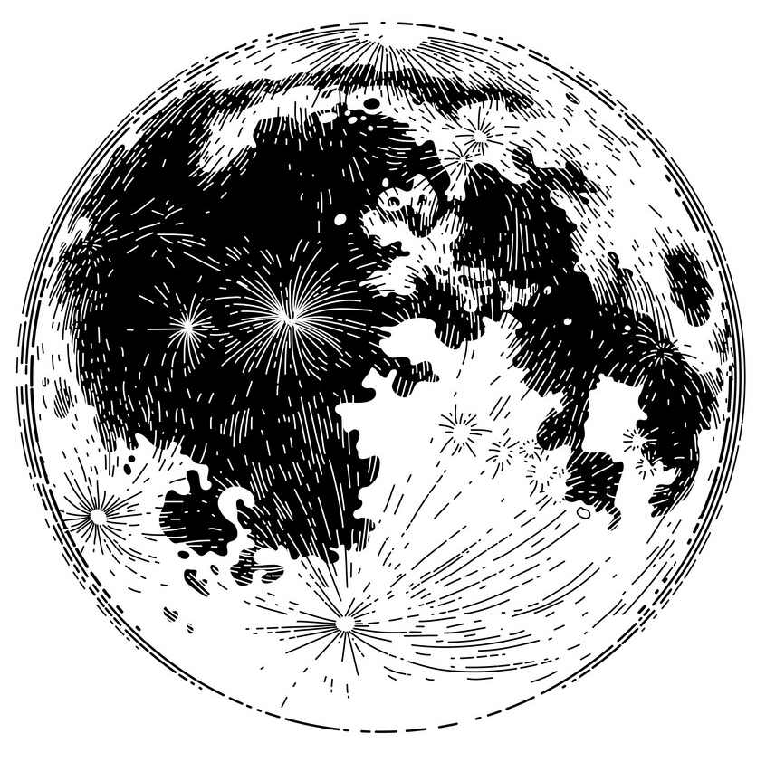 Black and White Moon clipart