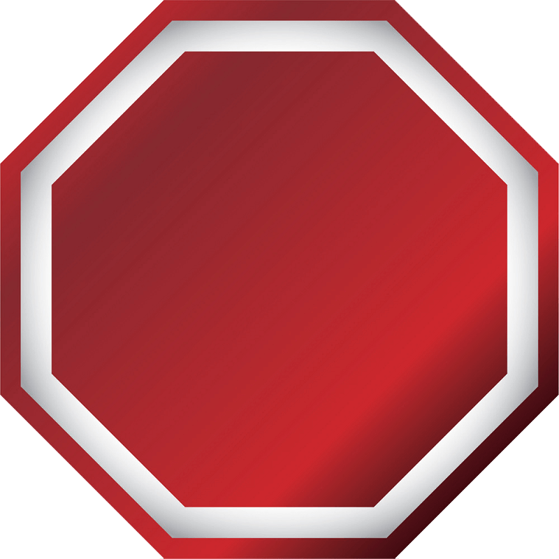 Blank Stop Sign clipart transparent