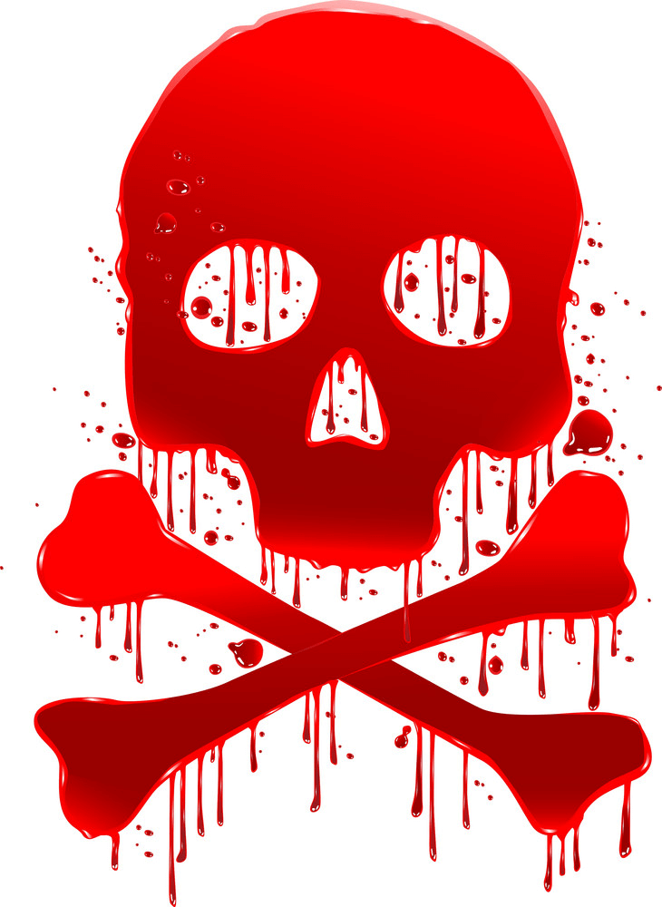 Blood Skull clipart