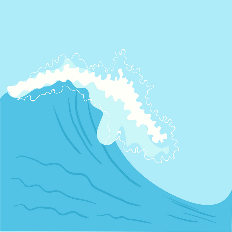 Blue High Sea Wave clipart