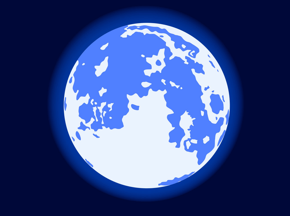 Blue Moon clipart
