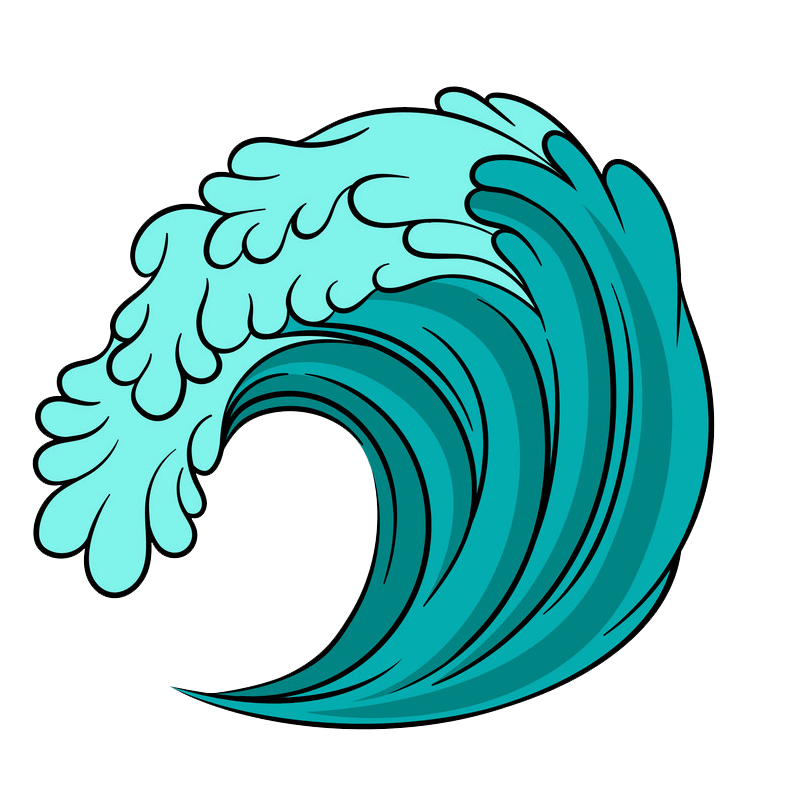 Blue Sea Wave clipart transparent