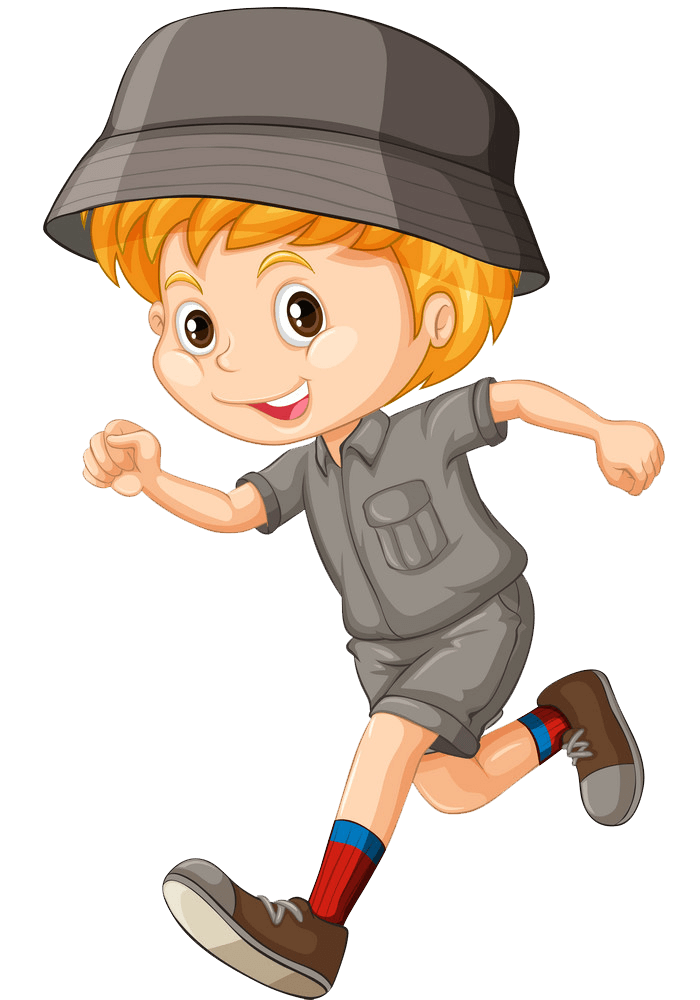 Boy in Camping Outfit clipart transparent