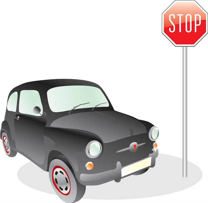 Car and Stop Sign png