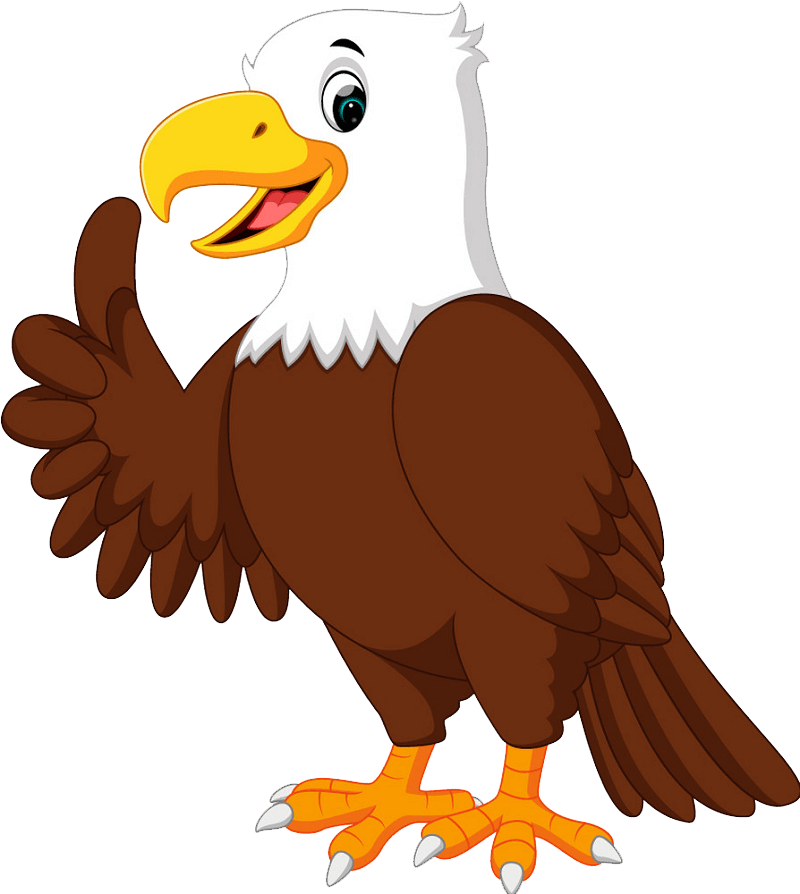 Cartoon Eagle clipart transparent
